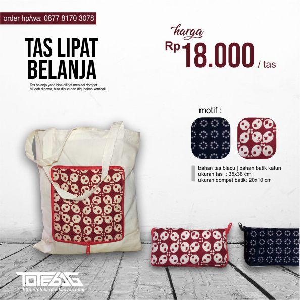 tas belanja blacu batik