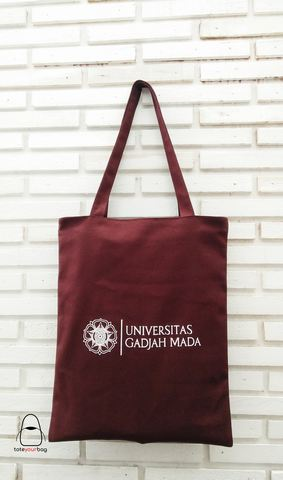 tote bag kanvas warna maroon